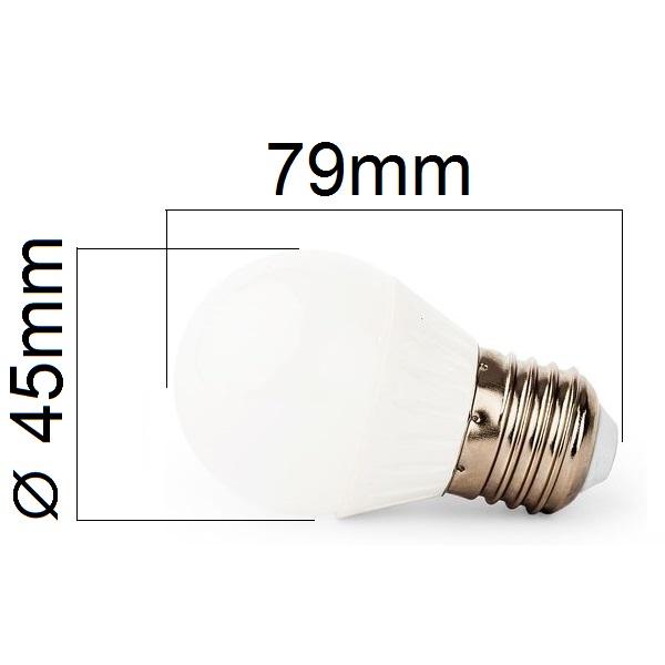 LED žárovka E27 8W 720lm G45 teplá , ekvivalent 61W
