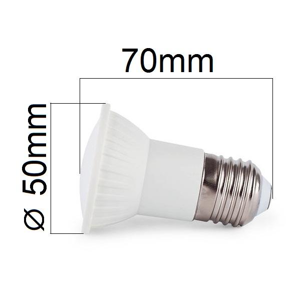 LED žárovka E27 6W 540lm JDR teplá, ekvivalent 50W