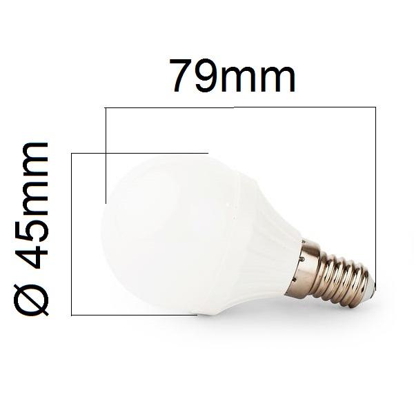 Akce: LED žárovka E14  4W 400lm G45, denní 3+1