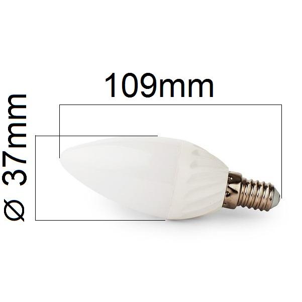 Stmívatelná LED žárovka E14 8W 750lm teplá, ekvivalent 61W