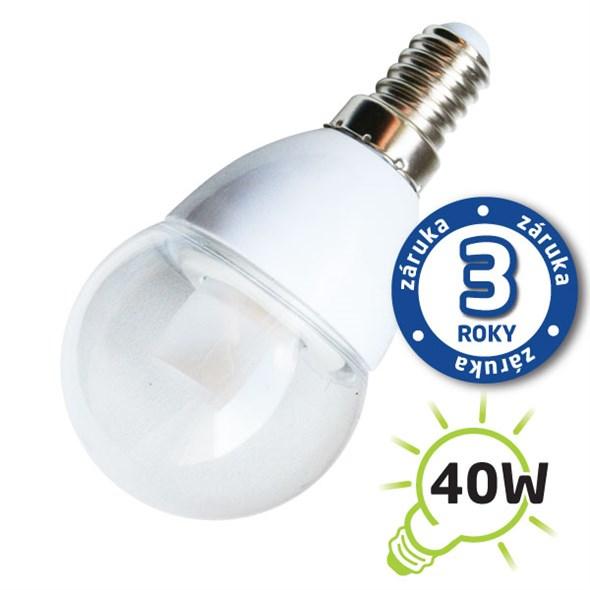 LED žárovka E14 5W 400lm teplá, ekvivalent 40W