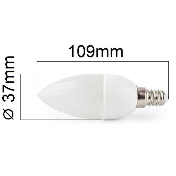 LED žárovka E14 8W 750lm denní, ekvivalent 61W