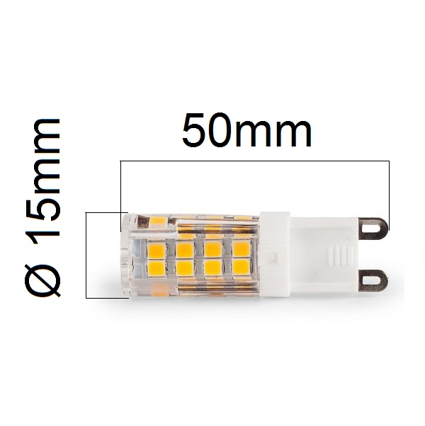 Akce: LED žárovka G9 5W 450lm denní 3+1