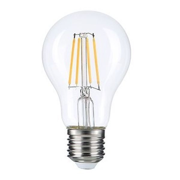 Retro LED žárovka E27 6W 630lm, denní, filament, ekvivalent 42W