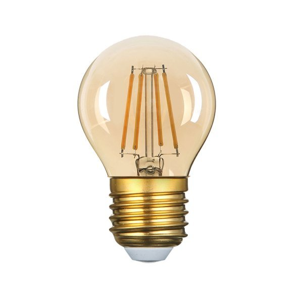 Stmívatelná retro LED žárovka E27 4W 350lm G45 extra teplá, filament,  ekvivalent 23W