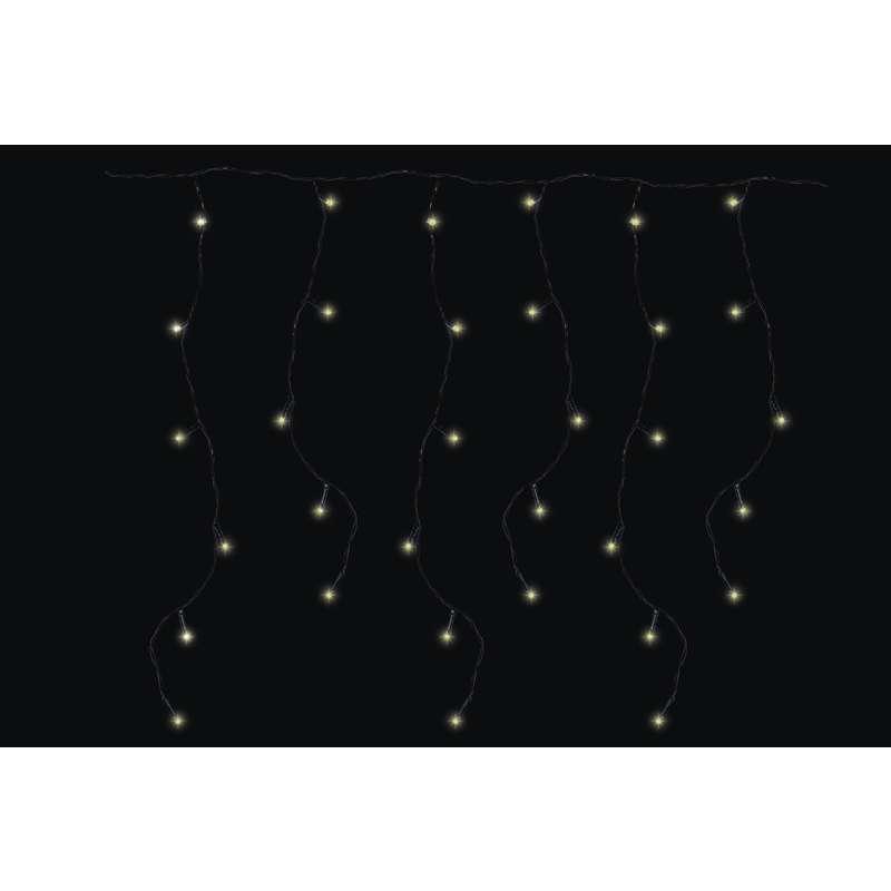 LED vánoční řetěz krápníky 6W teplé světlo, 3m, voděodolný, 8 programů