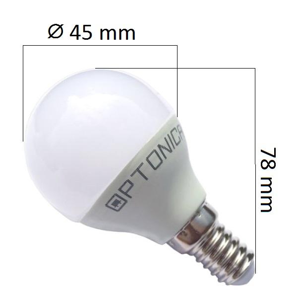 Akce: LED žárovka  E14 6W 480lm G45 teplá 3+1