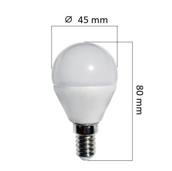 Akce: LED žárovka  E14 8,5W 800lm G45 teplá 3+1