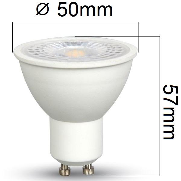 Akce: LED žárovka GU10 7W 500lm teplá 3+1