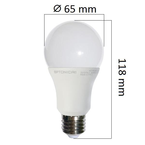 Akce: LED  žárovka E27 12W 960lm, studená 3+1