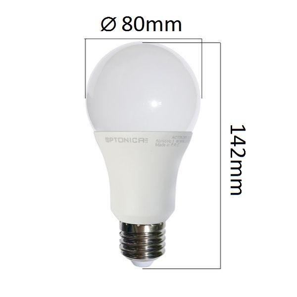 Akce: LED  žárovka E27 18W 1440lm, studená 3+1
