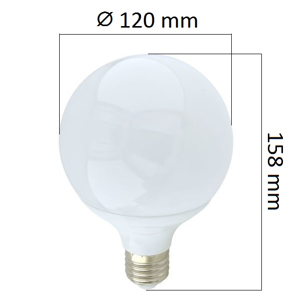 Akce: LED  žárovka E27 18W 1440lm G120 teplá 3+1