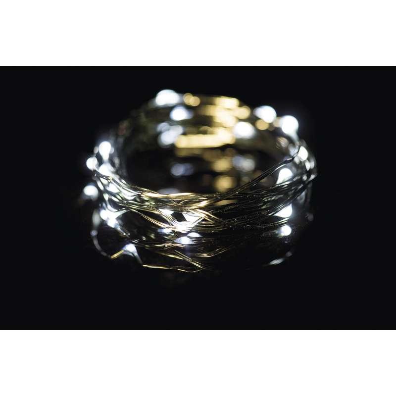 LED vánoční  řetěz 2,4W studené světlo, 4m, voděodolný, časovač