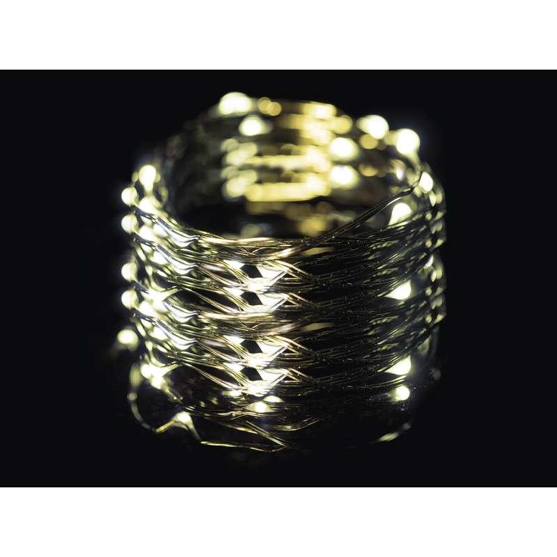 LED vánoční řetěz 3,6W teplé světlo, 15m, voděodolný, časovač