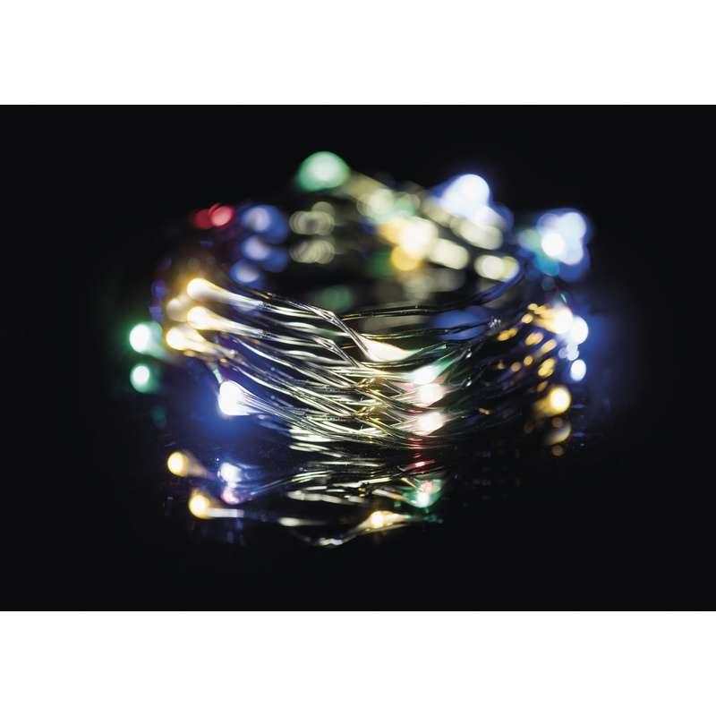 LED vánoční řetěz 2,4W vícebarevný, 7,5m, voděodolný, časovač