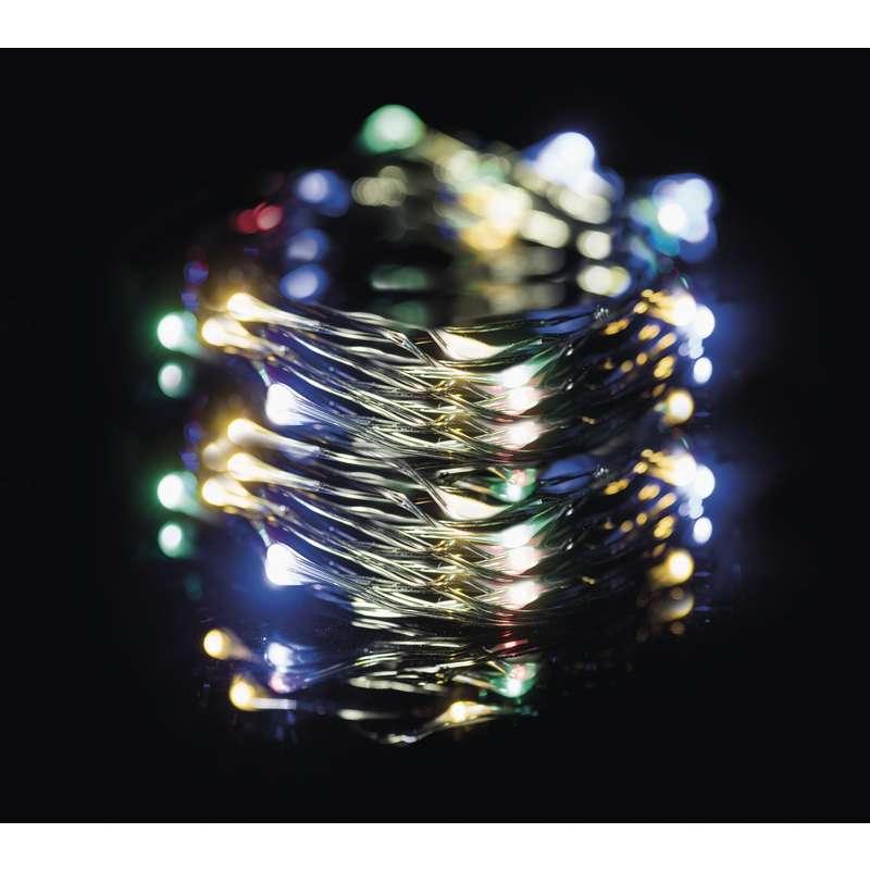 LED vánoční řetěz 3,6W vícebarevný, 15m, voděodolný, časovač