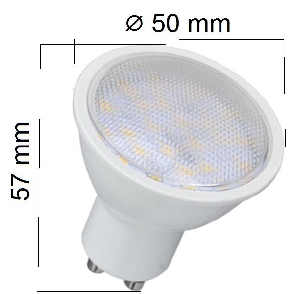 Akce: LED žárovka  GU10 7W 500lm, denní 3+1