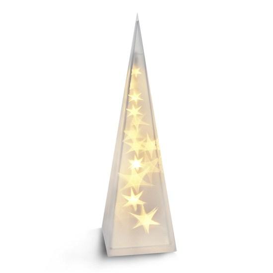 LED  vánoční pyramida, 3D efekt světla, 45cm, 3 x AA, teplá bílá