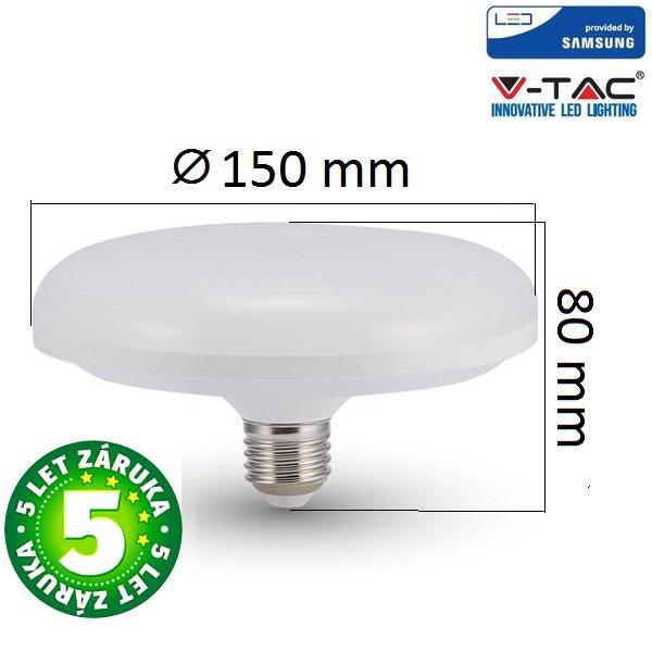 Prémiová LED žárovka E27 UFO SAMSUNG čipy 16W 1200lm, denní, 5 let
