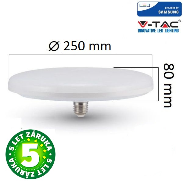 Prémiová LED žárovka E27 UFO SAMSUNG čipy 36W 2900lm, studená, 5 let