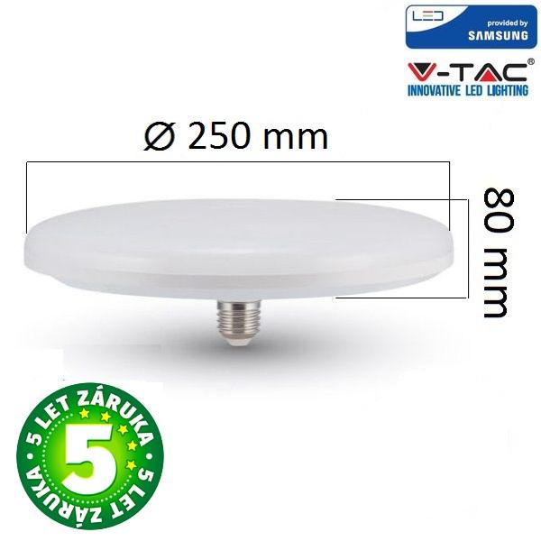 Prémiová LED žárovka E27 UFO SAMSUNG čipy 36W 2900lm teplá