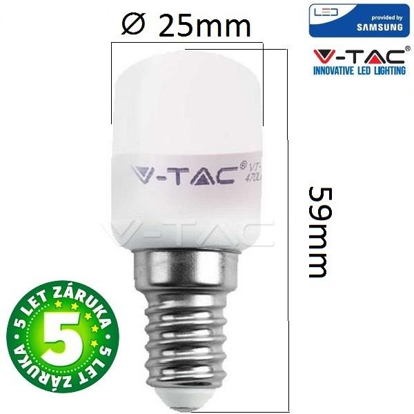 Prémiová LED žárovka E14 SAMSUNG čipy 2W 180lm teplá, 5 let