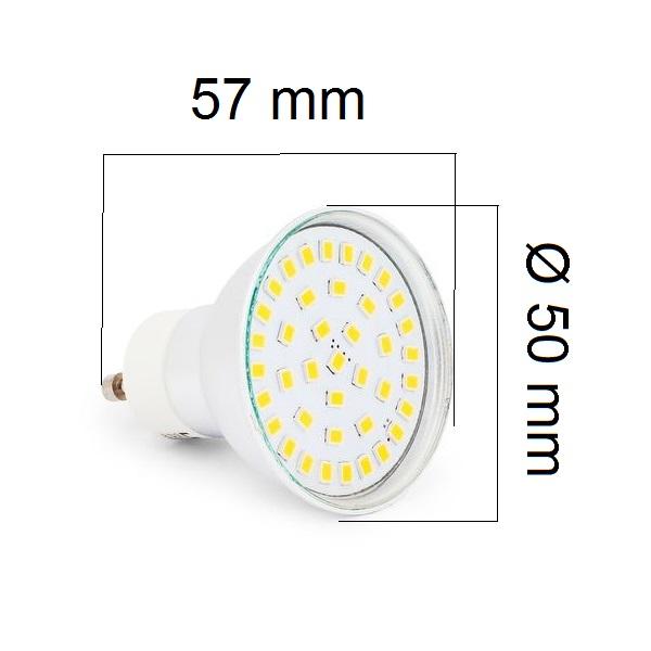 Akce: LED žárovka GU10 5W 450lm  teplá 3+1