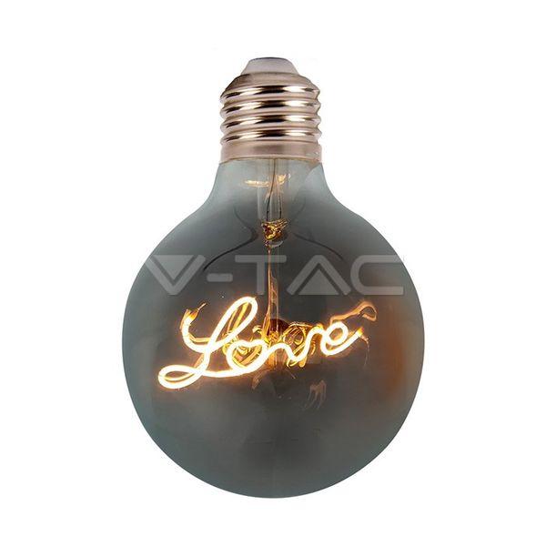 Retro LED žárovka E27 5W 70lm G125 extra teplá, filament, ekvivalent 30W