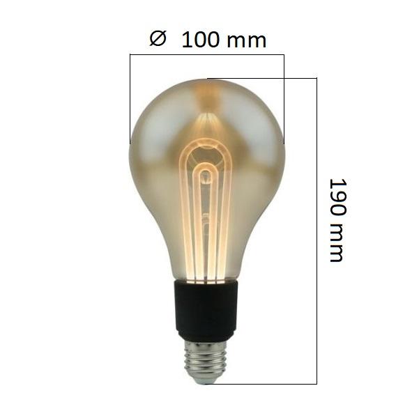 Retro LED žárovka E27 5W 250lm teplá, ekvivalent 25W