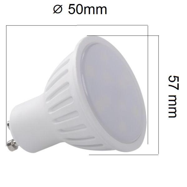LED žárovka GU10 6W 450lm, studená, ekvivalent 40W