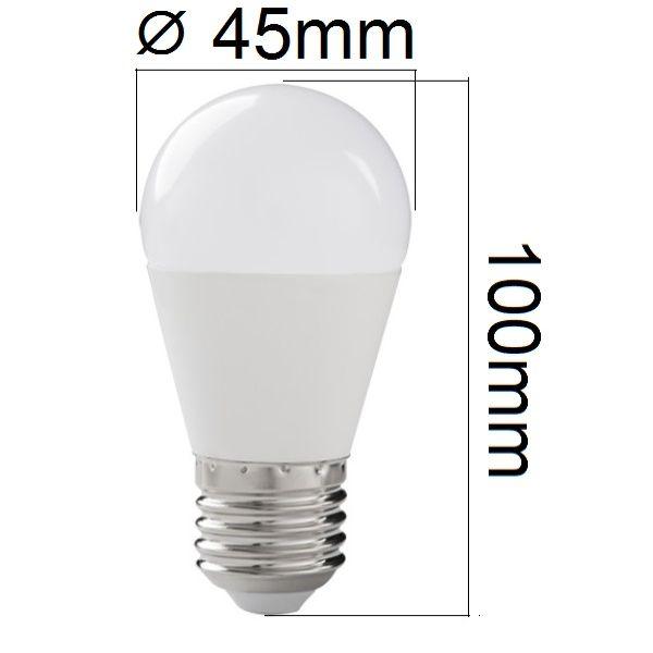 LED žárovka E27 8W 600lm G45 teplá , ekvivalent 60W