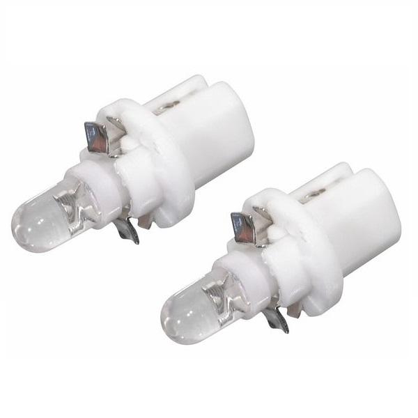 Led autožárovka 1LED 12V B8,5d bílá 2ks