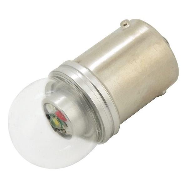 Led autožárovka 1 SMD LED 6chips 12V Ba15s CAN-BUS ready bílá 1ks