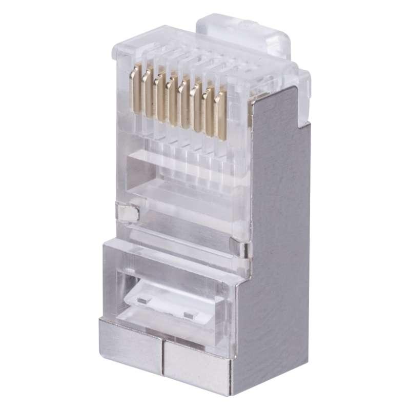 Konektor RJ45 pro FTP  CAT6 drát CAT6 balení 20ks