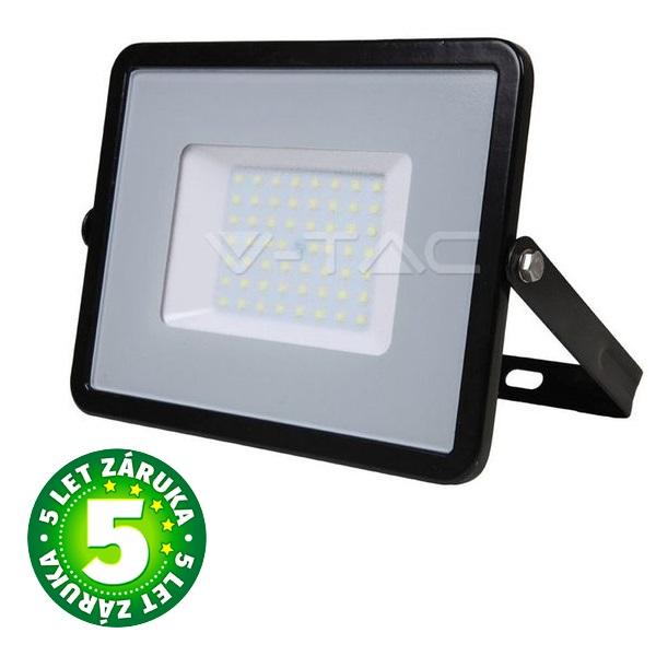 Prémiový ultratenký LED reflektor 50W 4000lm SAMSUNG čipy černý, denní