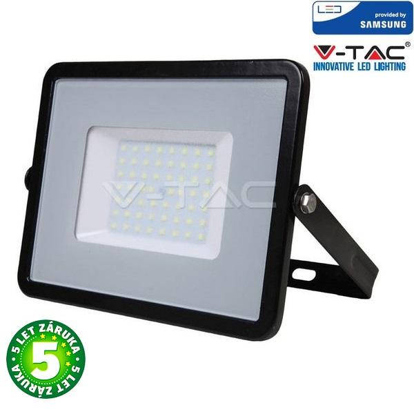 Prémiový ultratenký LED reflektor 50W 4000lm SAMSUNG čipy černý, studená