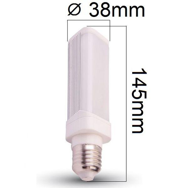 LED žárovka E27 6W 485lm denní, ekvivalent 50W