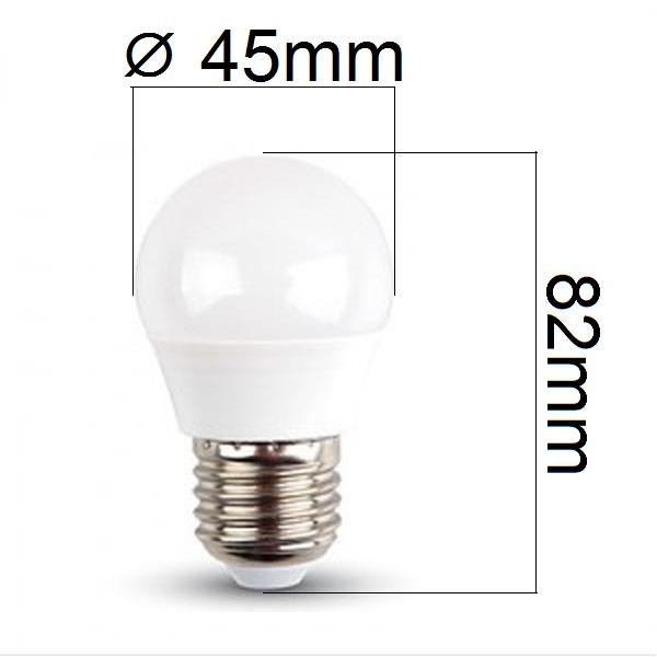 Akce: LED žárovka E27 4W 320lm G45 teplá 3+1