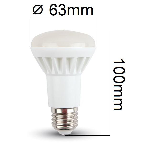 Akce: LED žárovka E27 8W 500lm R63 teplá 3+1