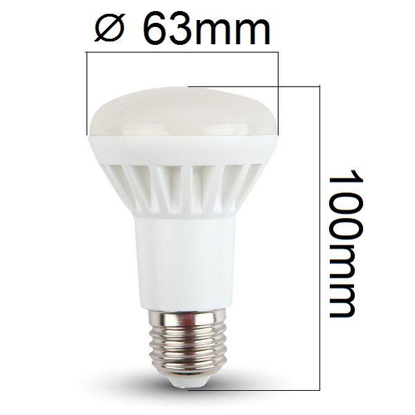 LED žárovka E27 8W 500lm R63, denní, ekvivalent 60W