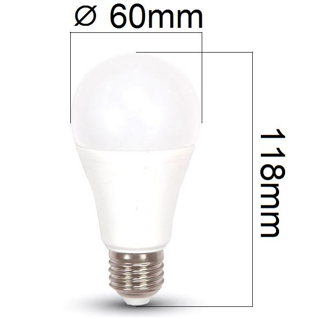 Akce: LED žárovka E27 12W 1055lm teplá 3+1