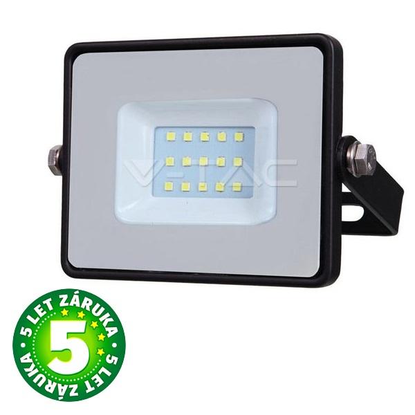 Prémiový ultratenký LED reflektor 10W 800lm SAMSUNG čipy černý teplá