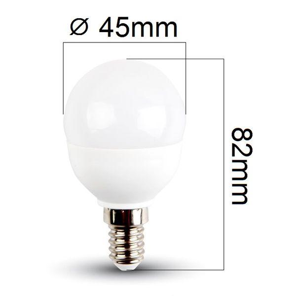 LED žárovka E14 5,5W 470lm G45 teplá,  ekvivalent 40W