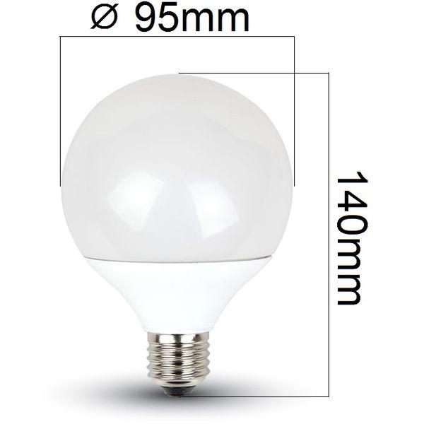 Akce: LED žárovka E27 10W 810lm G95 teplá 3+1