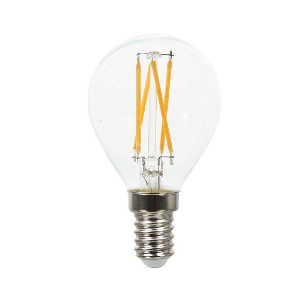 Retro LED žárovka E14 4W 400lm G45  denní, filament, ekvivalent 40W