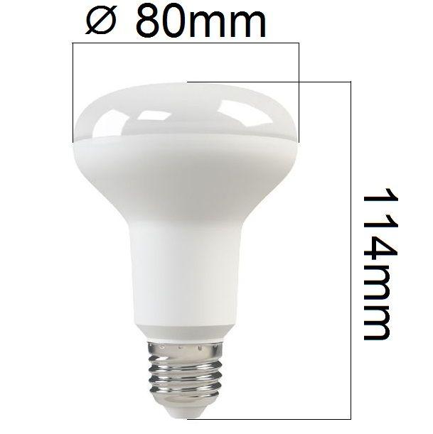 Akce: LED žárovka E27 10W 800lm R80 teplá 3+1