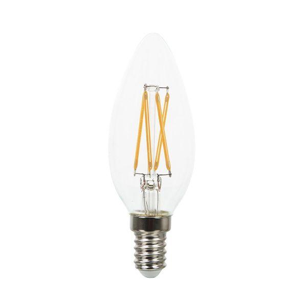 Stmívatelná retro LED žárovka E14 4W 350lm teplá, filament, ekvivalent 30W