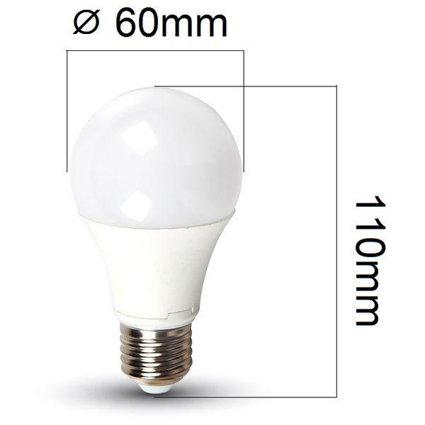 LED žárovka E27 7W 470lm teplá, ekvivalent 40W