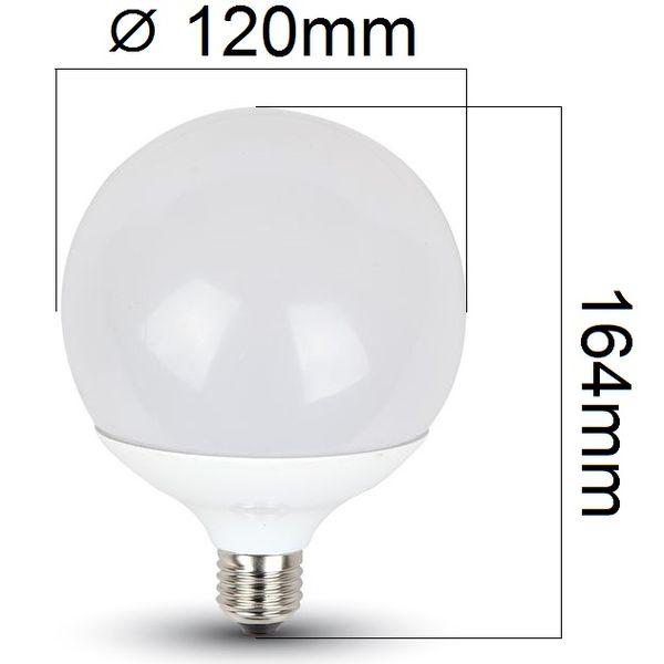 Akce: LED žárovka E27 18W 1800lm G120 teplá 3+1