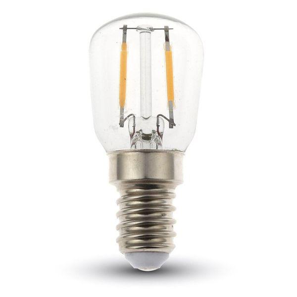 Retro LED žárovka E14 2W 180lm teplá, filament, ekvivalent 25W